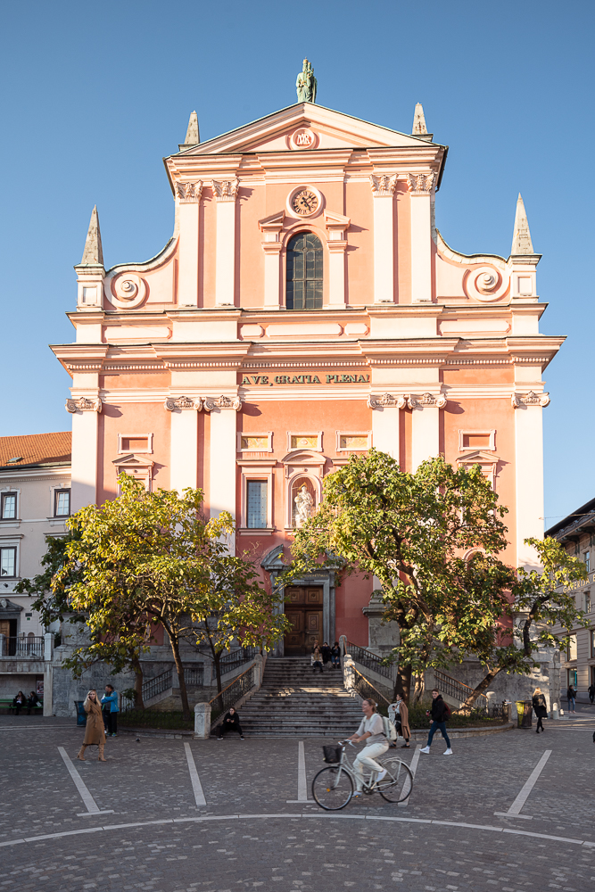 Franciscan Church of the Annunciation, Old Town, Ljubljana, Slovenia