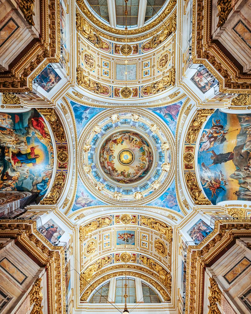Interior of Saint Isaac's Cathedral, Saint Petersburg, Leningrad Oblast, Russia