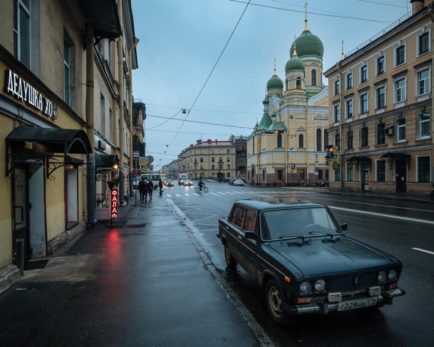 Vintage Car on Street, Saint Petersburg, Leningrad Oblast, Russia