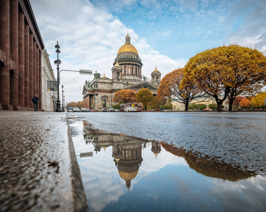 Exterior of Saint Isaac's Cathedral, Saint Petersburg, Leningrad Oblast, Russia
