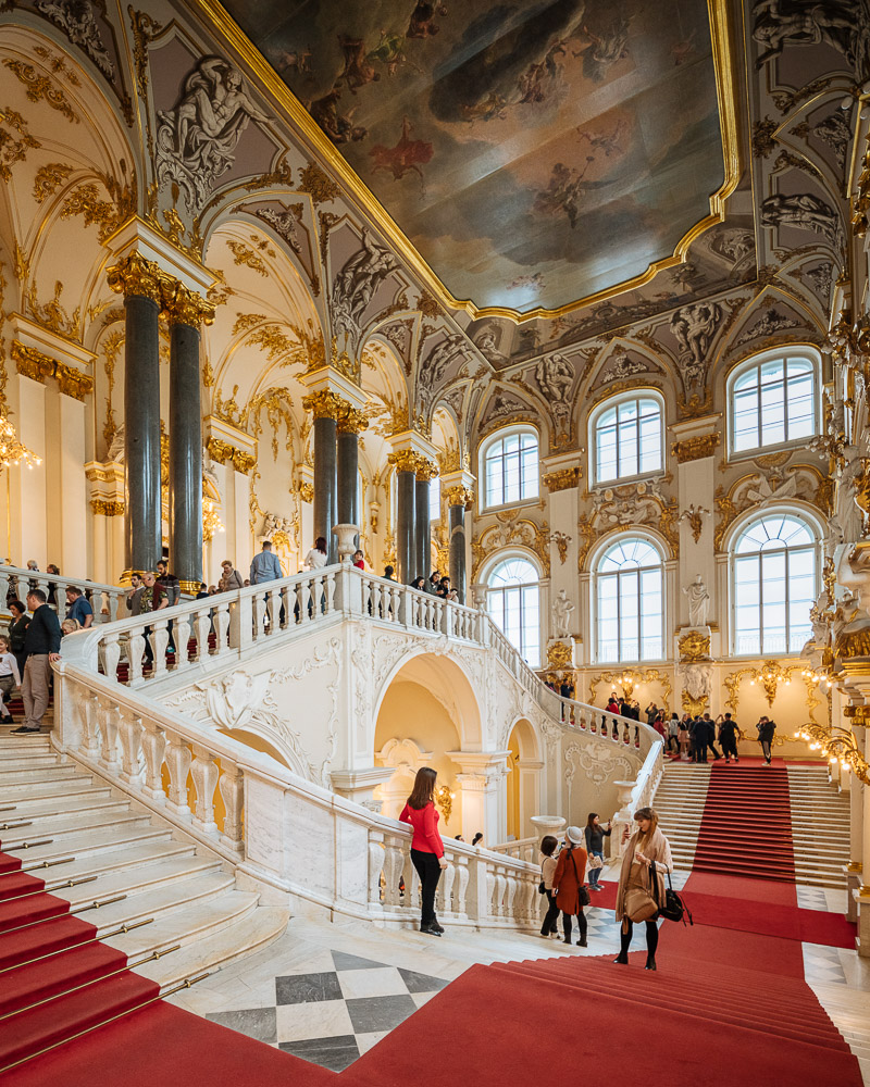 Jordan Staircase, Interior of The State Hermitage Museum, Saint Petersburg, Leningrad Oblast, Russia