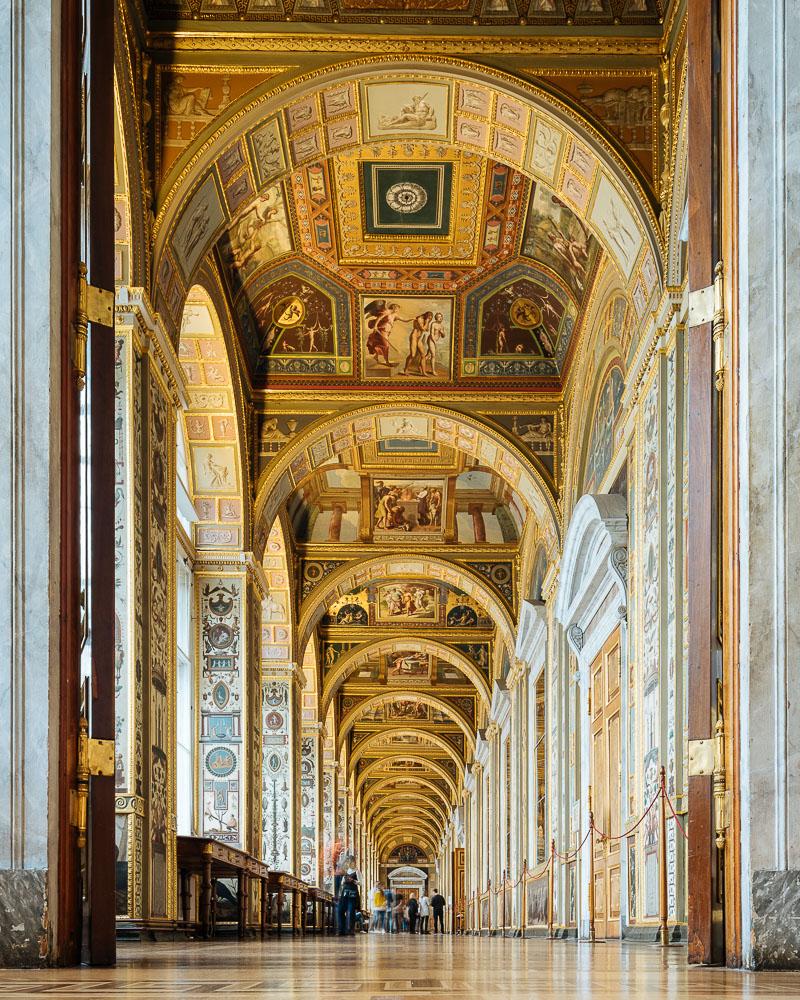 The Raphael Loggias, Interior of The State Hermitage Museum, Saint Petersburg, Leningrad Oblast, Russia