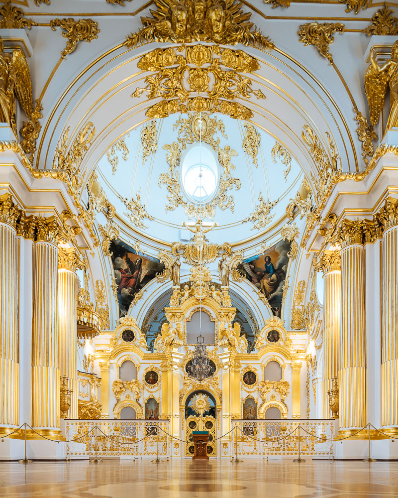 Interior of Great Church, The State Hermitage Museum, Saint Petersburg, Leningrad Oblast, Russia