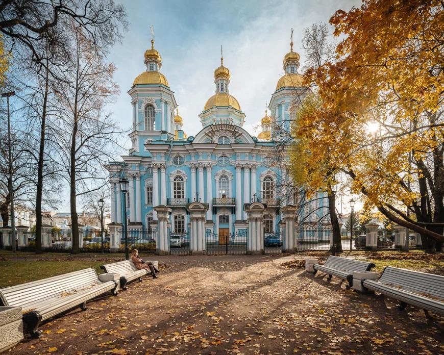 Nikolo-Bogoyavlenskiy Morskoy Sobor Orthodox Church, Saint Petersburg, Leningrad Oblast, Russia