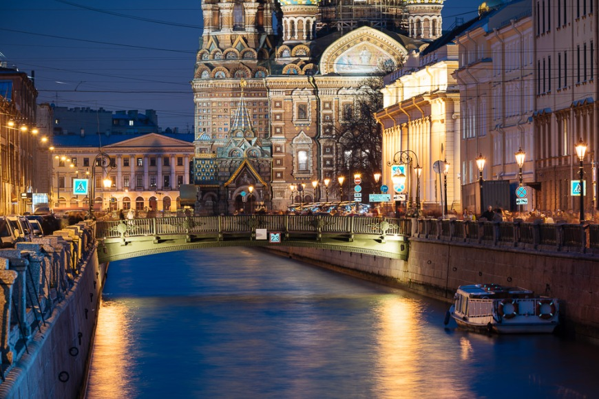 Church of the Savior on Blood at Night, Saint Petersburg, Leningrad Oblast, Russia