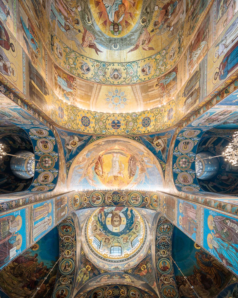 Interior of Church of the Savior on Blood aka Church of the Resurrection, Saint Petersburg, Leningrad Oblast, Russia