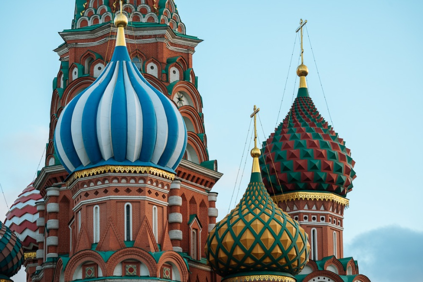 Exterior of St Basil's Cathedral, Red Square, Moscow, Moscow Oblast, Russia