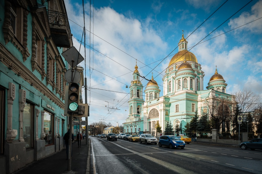 Exterior of Yelokhovo Cathedral, Moscow, Moscow Oblast, Russia