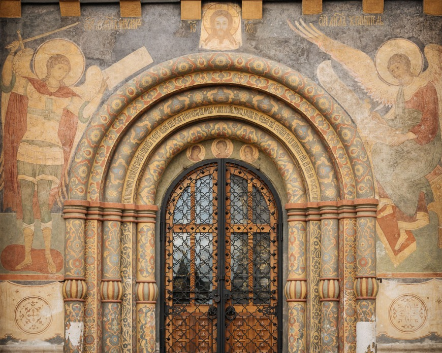 Door of Dormition Cathedral, The Kremlin, Moscow, Moscow Oblast, Russia