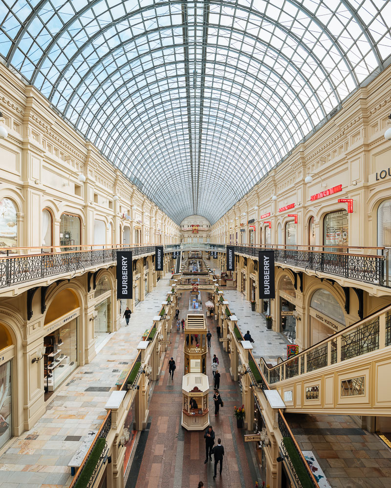 Interior of GUM Shopping Center, Moscow, Moscow Oblast, Russia