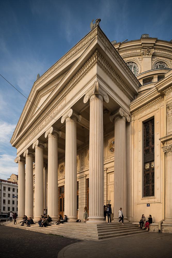 Exterior of Romanian Athenaeum Concert Hall, Bucharest, Romania