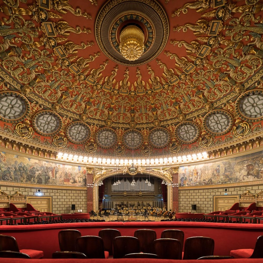 Interior of Romanian Athenaeum Concert Hall, Bucharest, Romania