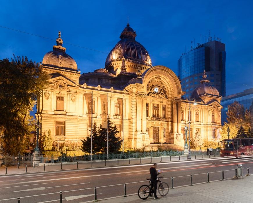 Biserica Zlatari Orthodox Church at Night, Bucharest, Romania
