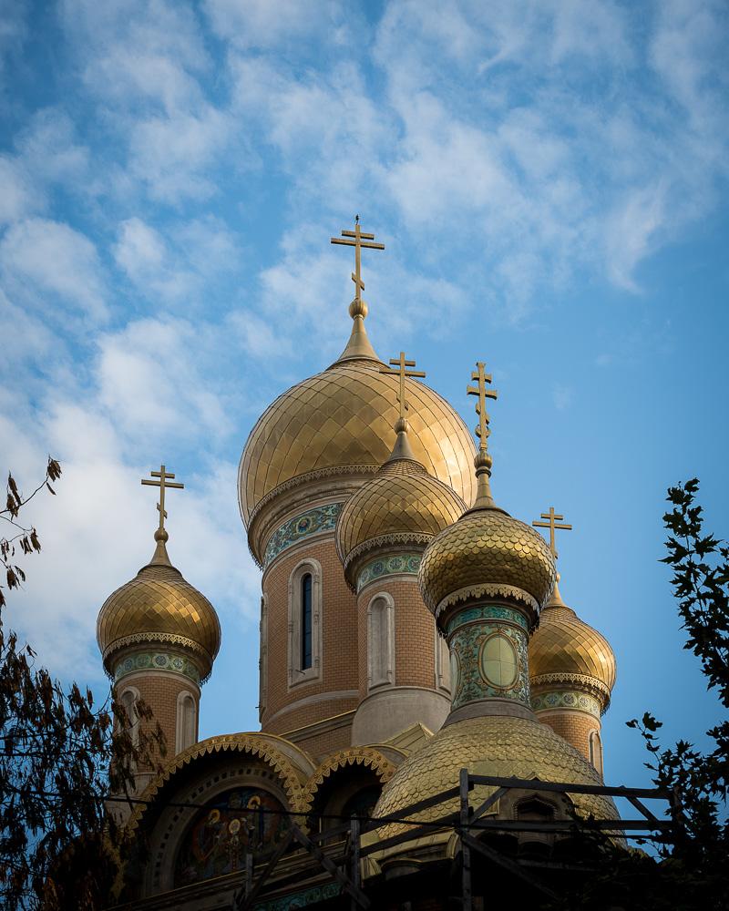 Orthodox Church Steeples, Bucharest, Romania