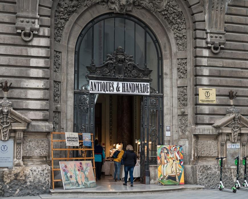 Exterior of Bazar Antiques Market, Strada Doamnei, Bucharest, Romania